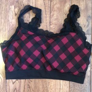 MAURICES - NWT Red Buffalo Plaid Bra (0X)